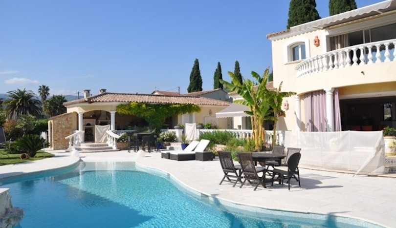 04 luxury holiday villa pool garden la Colle sur Loup view pool