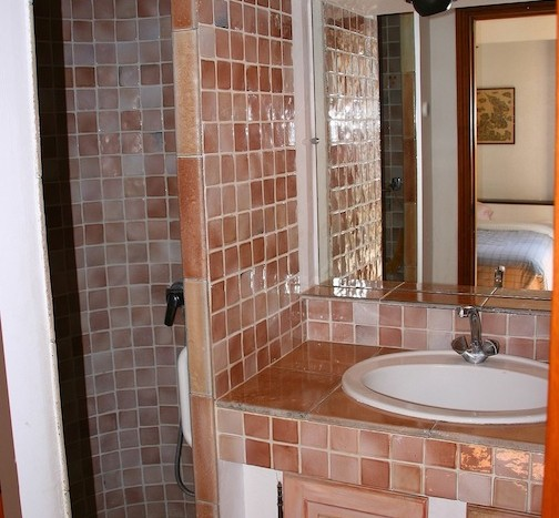 04 Beautiful rustic villa private pool breathtaking views St Jeannet shower room