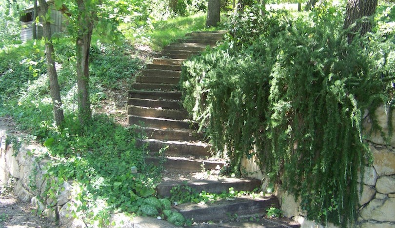 24 Sue's home vence stairs garden